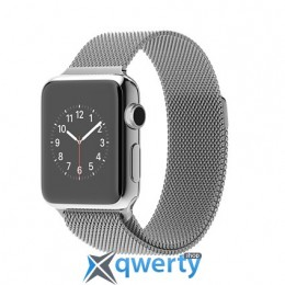 Apple iWatch 38mm Stainless Steel Case with Milanese Loop (MJ322)