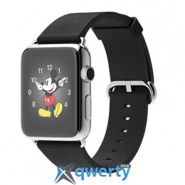 Apple iWatch 42mm Stainless Steel Case with Black Classic Buckle (MJ3X2)