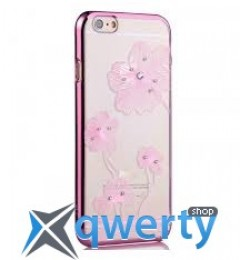 COMMA Crystal Flora with original Swarovski Element For iPhone 6 Pink