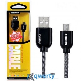 USB-microUSB кабель Remax Super Cable 1м черный в упаковке
