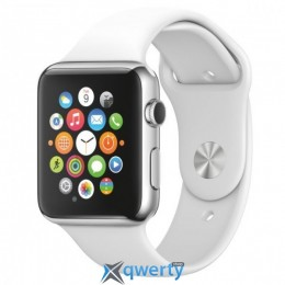 Apple Watch Sport 42mm Silver Aluminum Case with White Sport Band (MJ3N2LL/A)