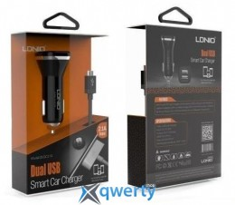 DL-219 USB car charger + cable micro (2,1 A) , LDNIO