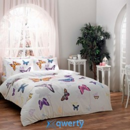 Двуспальное TAC Butterfly Blue PVC Сатин (71107087)