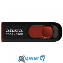 A-DATA 32Gb C008 black+red (AC008-32G-RKD)