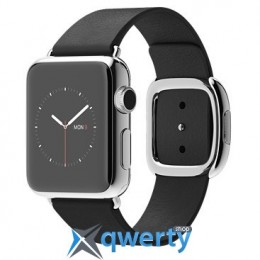 Apple Watch 38mm Stainless Steel Case with Black Modern Buckle MJYM2