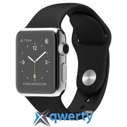 Apple Watch 38mm Stainless Steel Case with Black Sport Band MJ2Y2
