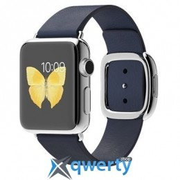 Apple Watch 38mm Stainless Steel Case with Blue Modern Buckle MJ342