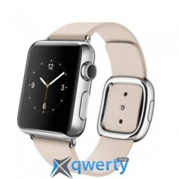 Apple Watch 38mm Stainless Steel Case with Soft Pink Modern Buckle Size M (MJ372LL/A)