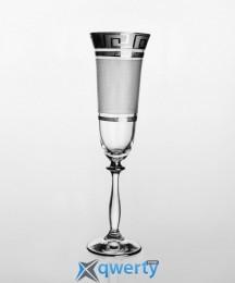 Angela набор бокалов для шампанского (Karo Kostka платина)