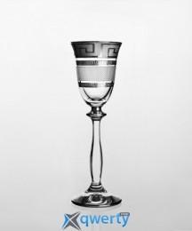 Angela набор рюмок для водки и ликера (Karo Kostka платина)