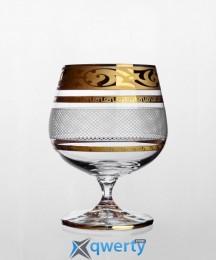 Christine набор бокалов для коньяка (Maharaja Karo золото)