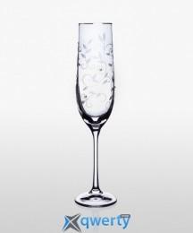 Viola набор бокалов для шампанского (Lido платина) 2 шт
