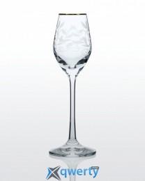 Viola набор рюмок для водки и ликера (Lido золото)