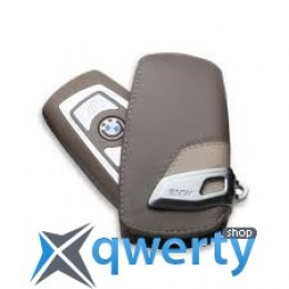 Футляр для ключа BMW Key Holder Fob Leather Case Cover Modern Line Beige (82 29 2 219 914)