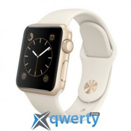 Apple Watch  38mm Gold Aluminum Case with Antigue White Sport Band  NEW (MLCJ2)