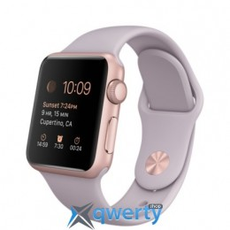Apple Watch 38mm Rose Gold Aluminum Case with Lavender Sport Band NEW (MLCH2)