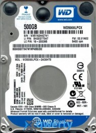 Western Digital Blue 500 GB 2.5 (WD5000LPCX)