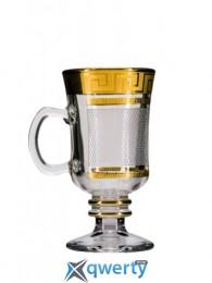 Набор бокалов для глинтвейна Venezia (костка каро золото) купить в Одессе