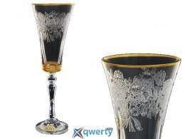 Набор бокалов для шампанского Alex золото
