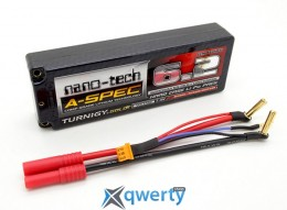Turnigy nano-tech A-SPEC Li-Po battery 7.4V 6200mAh 2S2P 65C HXT4mm Hard case купить в Одессе