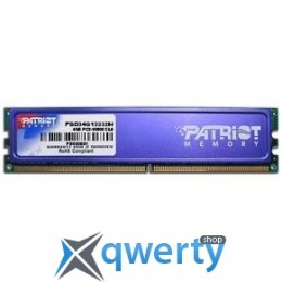PATRIOT 4 GB DDR3 1333 MHz (PSD34G13332H)