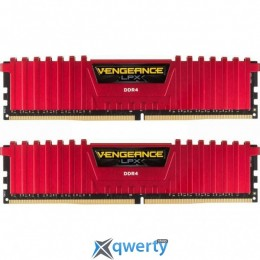 DDR4 8GB (2X4GB) 2400 MHZ LPX RED CORSAIR (CMK8GX4M2A2400C16R)