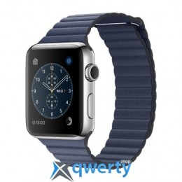 Apple Watch Series 2 MNPW2 42mm Stainless Steel Case with Midnight Blue Leather Loop
