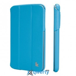 JISONCASE Premium Leatherette Smart Case for Samsung Galaxy Tab 3 8 Blue (JS-S31-03H40)
