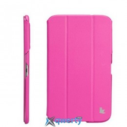 JISONCASE Premium Leatherette Smart Case for Samsung Galaxy Tab 3 8 Rose (JS-S31-03H33)