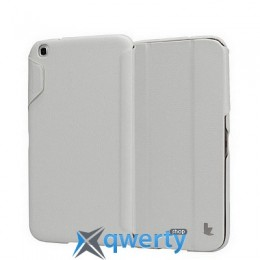 JISONCASE Premium Leatherette Smart Case for Samsung Galaxy Tab 3 8 White (JS-S31-03H00)