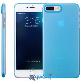 MOMAX Membrane hard case for Apple iPhone 7 (0.3mm Super slim) Blue (MPAPIP7B)