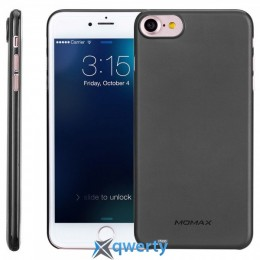 MOMAX Membrane hard case for Apple iPhone 7 Plus (0.3mm Super slim) Black (MPAPIP7LD)