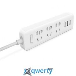 Сетевой фильтр-удлинитель Mi Power Strip with 3USB(2A) (1.8м/3 розетки) White (XMCXB01QM)