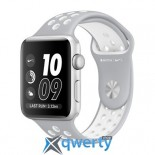 Apple Watch Nike+ MNNQ2 38mm Silver Case with Flat Silver/White Nike Sport Band