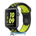 Apple Watch Nike+ 42mm Space Gray Aluminum Case with Black/Volt Nike Sport Band (MP0A2)
