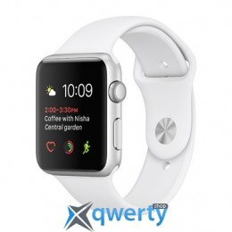 Apple Watch Series 2 MNNW2 38mm Silver Aluminum Case with White Sport Band
