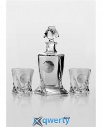 Quadro набор для виски (Edem платина) 2+1 шт.