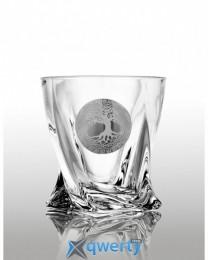 Quadro набор стакановов для виски (Edem платина) 6 шт.