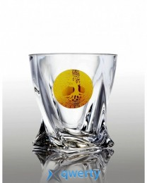 Quadro набор стакановов для виски (Edem золото) 6 шт.