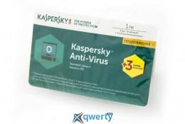 KASPERSKY ANTI-VIRUS 2017 EASTERN EUROPE EDITION 1DVC 1Y+3MON. RENEWAL CARD (KL1171OOAFR)