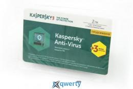 Kaspersky Anti-Virus 2017 Eastern Europe Edition 2Dvc 1Y+3mon. Renewal Card(KL1171OOBFR)