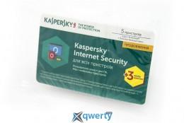 Kaspersky Internet Security 2017 Eastern Europe Edition 5Dvc 1Y+3mon. Renewal Card(KL1941OOEFR_2017)