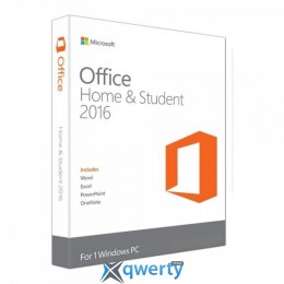 Microsoft Office Home and Student 2016 Ukrainian Medialess P2 (79G-04633)