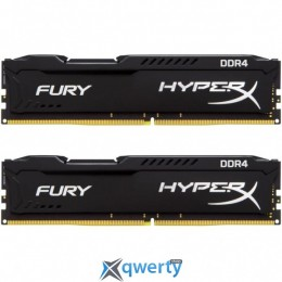 DDR4 16GB (2X8GB) 2400 MHZ HYPERX FURY BLACK KINGSTON (HX424C15FB2K2/16) купить в Одессе