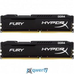 DDR4 16GB (2X8GB) 2400 MHZ HYPERX FURY BLACK KINGSTON (HX424C15FB2K2/16)