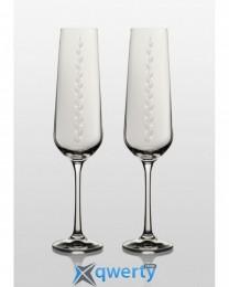 Sandra набор бокалов для шампанского (Nika Swarovski) 2 шт.