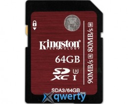 Kingston 64GB microSDXC C10 UHS-I U3 R90/W45MB/s SDCA3/64GBSP