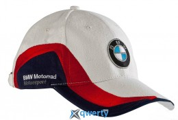 Бейсболка BMW Motorrad Cap Motorsport White/Red/Blue (76 73 8 532 565) купить в Одессе