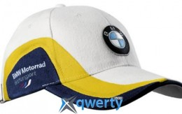 Бейсболка BMW Motorrad Cap Motorsport White/Yellow/Blue (76 73 8 541 454)