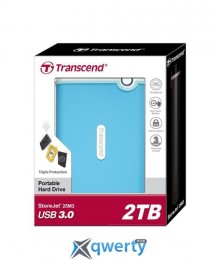 Transcend StoreJet 2.5 USB 3.0 2TB серия M Blue